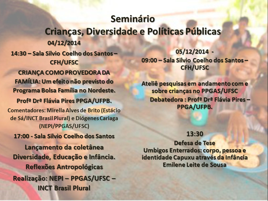 SeminárioCriançasDiversidadePolíticasPúblicas